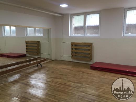 Sala na Vracaru za fitnes, aerobik, yogu, zumbu, karate, dzudo...