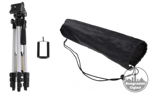 Stativ + drzac za telefon + torba