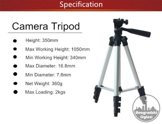 Tripod 105 cm + Torba + Držač za Telefon