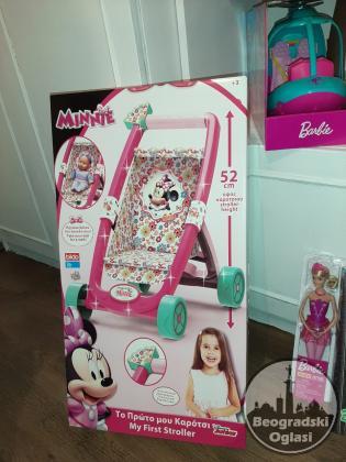 Prodajem kolica za lutke Minnie Mouse-Disneu original. NOVO