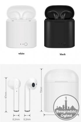 i7S TWS Bluetooth bežične slušalice sa mikrofonom