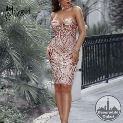 Novogodisnje haljine POFASH sa sljokicama S