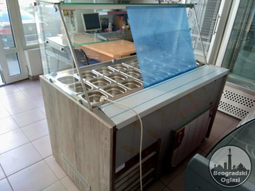 Rashladna vitrina za priloge 1,5m sa posudama