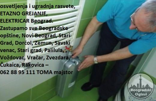 Servis, montaza, demontaza, etazno grejanje, Kucni majstor Beograd, strujne instalacije