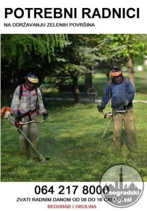 Potrebni radnici na održavanju zelenih površina