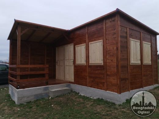 Stambeni kontejner KN16 - 5mx3m + terasa 2mx2.5m - dve prostorije