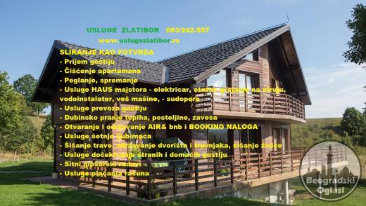 Čišćenje apartmana na Zlatiboru, pranje, prijem gostiju, održavanje partmana, gipsarski radovi, hausmajstor