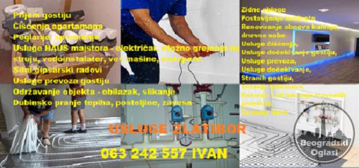 Održavanje dvoripta Zlatibor, hausmajstor, električar, krečenje, saune, kamini, dimnjaci