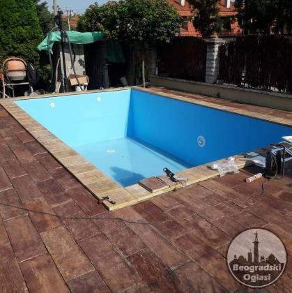 Poliestersko oblaganje bazena (stakloplastika)