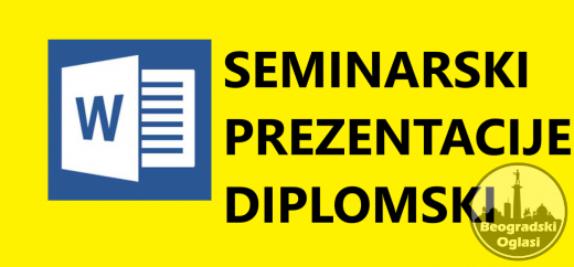 Maturski, seminarski, diplomski radovi, prezentacije, eseji