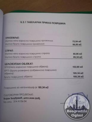 NA prodaju legalizovana kuca povrine 185m2 CENA: 23.000EUR