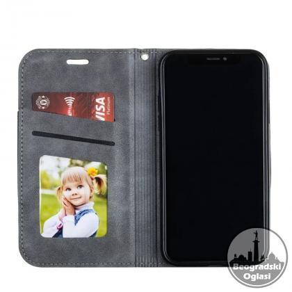 Kozna Novčanik futrola na preklop sa magnetom za Samsung s20