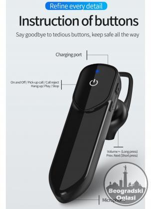 Bluetooth Handsfree Bezicna Slusalica
