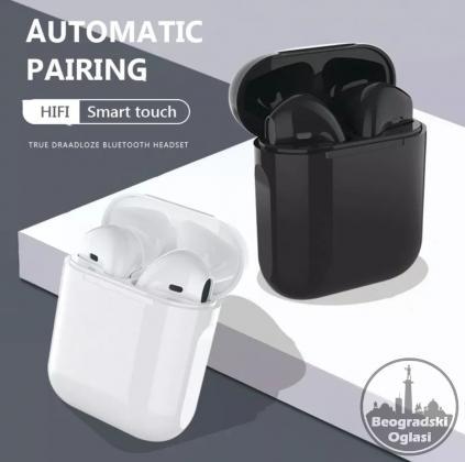 i12 TWS Bluetooth HiFi stereo Bežične slušalice
