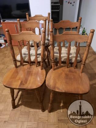 drvene stolice 2 , 4 ili 6 kom i drugo