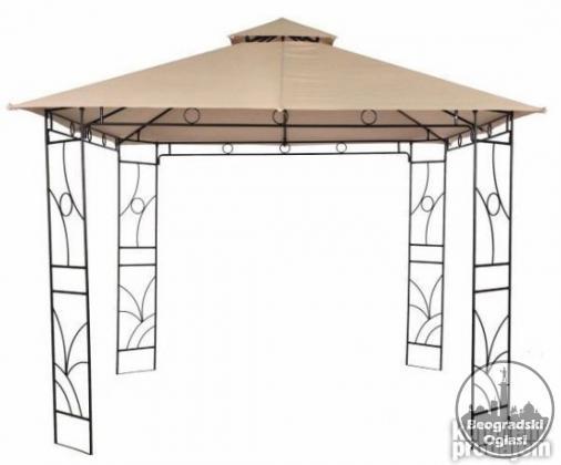 Metalna gazebo tenda Panama sa duplim krovom 3X3m NOVO 2021