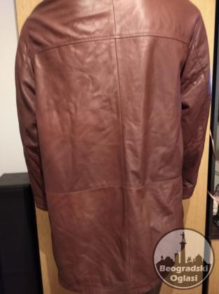 Muška kožna duža jakna vel. 52