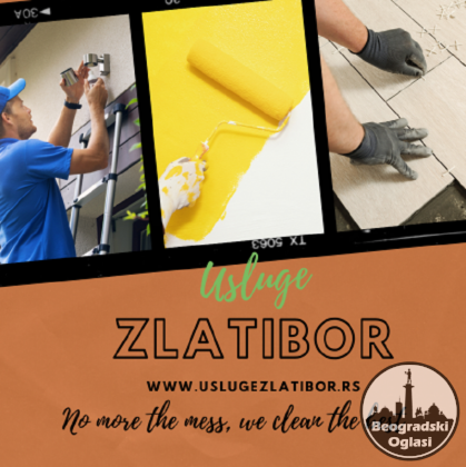 Zlatibor apartmani čišćenje i održavanje dvorišta, molerski radovi