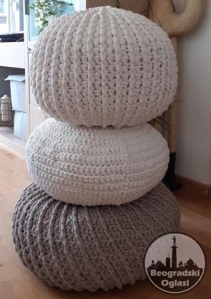 podni jastuk i tabure pleteni
