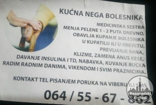 Pruzam negu, pomoc starijim osobama - Beograd