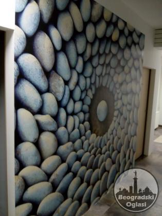 Lepljenje svih vrsta zidnih tapeta, fototapete KOMAR, molerski radovi, krečenje, gletovanje.