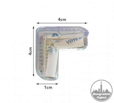 Samolepljiva silikonska zaštita na ostrim ivicama za decu 8 komada.